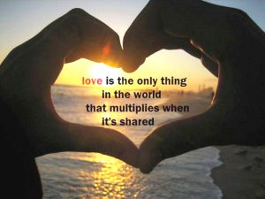 Love is the only thing1